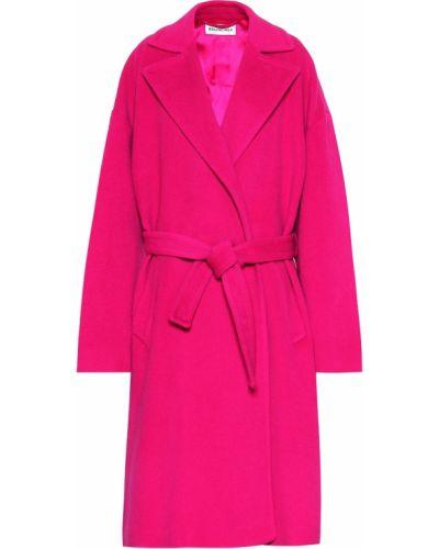 Płaszcz włosy wielbłąda różowy Balenciaga