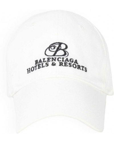 Czarna czapka bawełniana z haftem Balenciaga