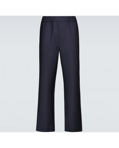 Niebieskie spodnie wełniane Acne Studios