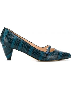 Синие туфли-лодочки на каблуке Lenora