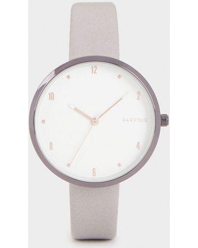 Водонепроницаемые часы с круглым циферблатом серые Parfois