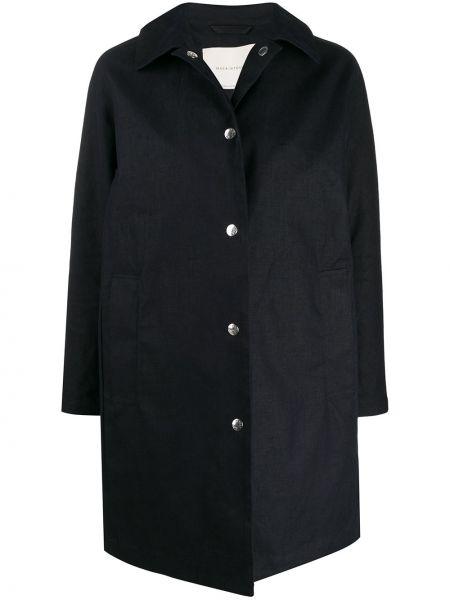 Długi płaszcz klasyczny z kieszeniami Mackintosh