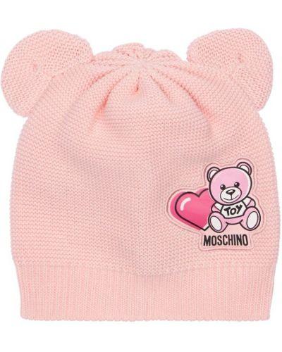 Bawełna bawełna różowy kapelusz Moschino