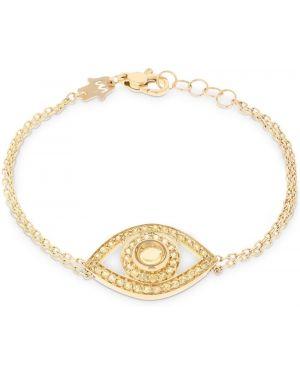 Żółta złota bransoletka ze złota kwarc Netali Nissim