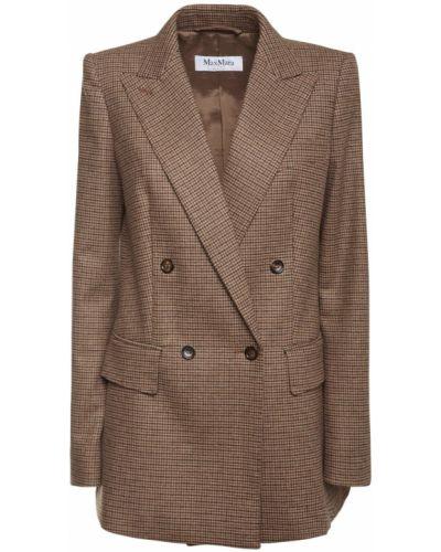 Шерстяная куртка с карманами с манжетами Max Mara