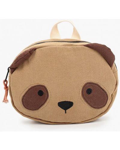 Хлопковый коричневый рюкзак Mango Kids