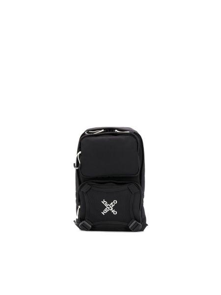 Czarny plecak sportowy na co dzień z printem Kenzo