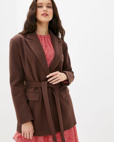 Полупальто - коричневое B.style