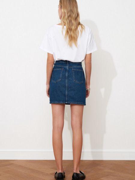 Синяя джинсовая юбка мини классическая Trendyol