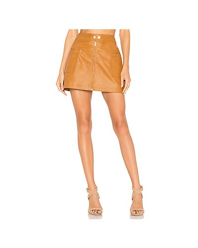 Кожаная юбка с молнией сзади с карманами Free People
