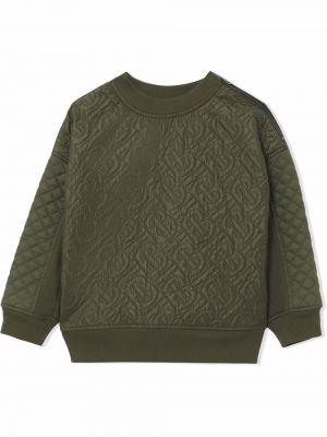 Zielona bluza bawełniana Burberry Kids
