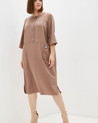 Коричневое повседневное платье Prewoman