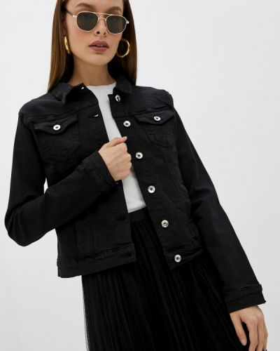 Черная джинсовая куртка летняя Softy