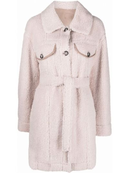 Różowy płaszcz zapinane na guziki Urbancode