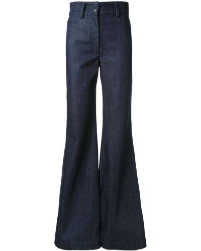 Расклешенные джинсы черные синие Vilshenko