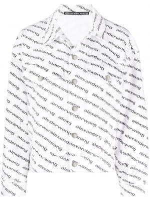 Длинная куртка - белая Alexander Wang