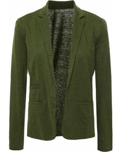 Зеленый трикотажный пиджак с карманами Majestic Filatures