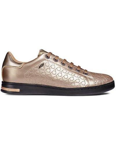 Кожаные кроссовки на платформе на каблуке Geox