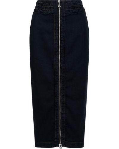 Юбка миди джинсовая с завышенной талией No.21