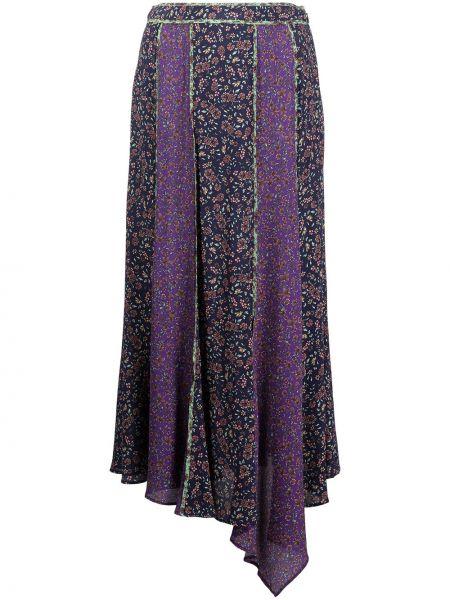 Фиолетовая юбка миди с завышенной талией Veronica Beard
