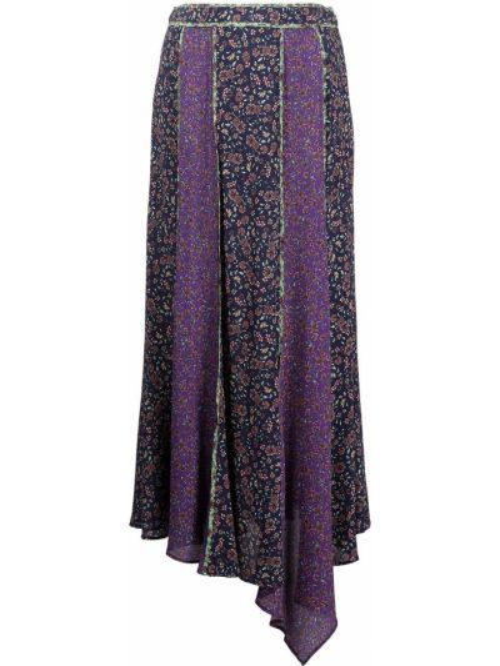 Fioletowa spódnica w kwiaty Veronica Beard