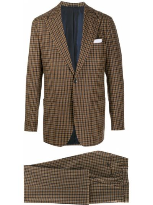 Шерстяной костюм - коричневый Kiton