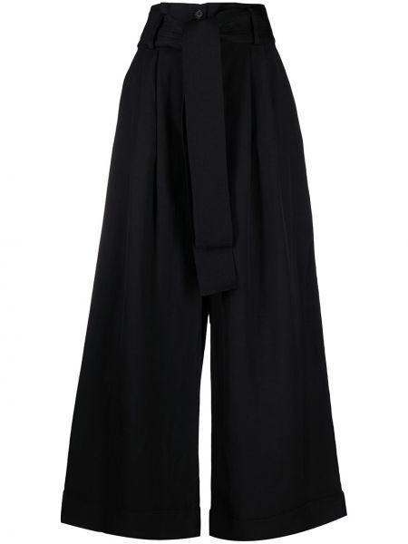 Черные с завышенной талией укороченные брюки свободного кроя P.a.r.o.s.h.
