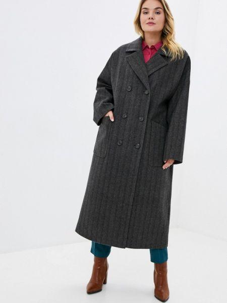 Серое пальто с капюшоном Gamelia