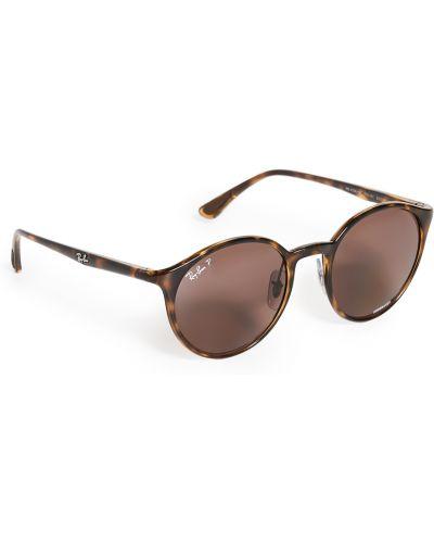 Мерцающие фиолетовые солнцезащитные очки круглые Ray-ban