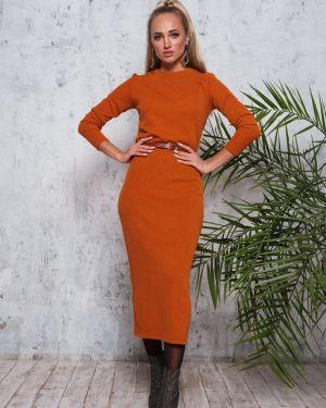 Платье миди платье-сарафан с люрексом Leleya