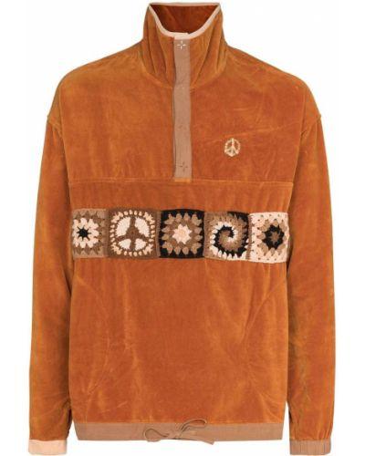 Ватный хлопковый оранжевый свитер Story Mfg