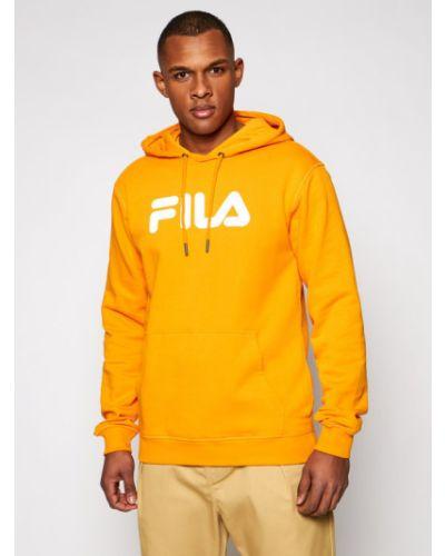 Klasyczna pomarańczowa bluza Fila