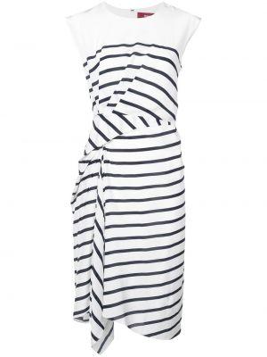 Приталенное платье миди на молнии с драпировкой без рукавов Sies Marjan