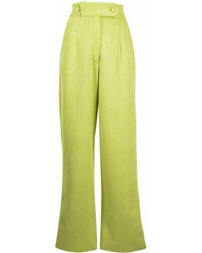 С завышенной талией зеленые брюки свободного кроя Bambah