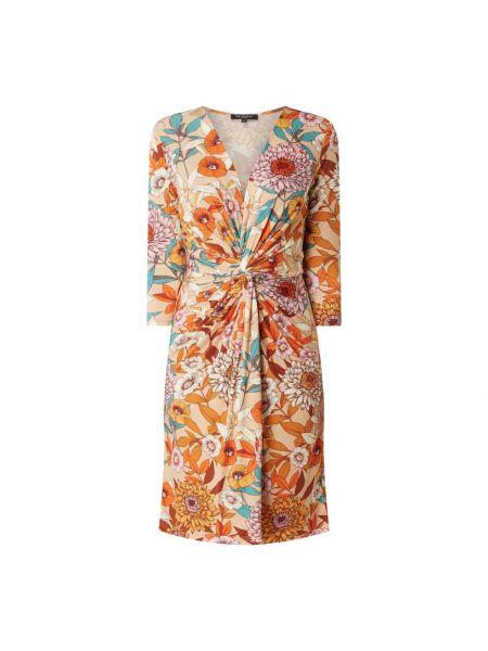 Sukienka z dekoltem w serek - beżowa Ilse Jacobsen
