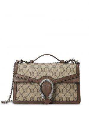 Парусиновая сумка-тоут на молнии с карманами Gucci