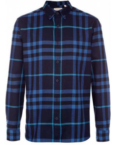 Джинсовая рубашка с длинным рукавом фланелевая Burberry
