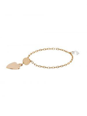 Żółty złoty łańcuch ze złota z diamentem Persée
