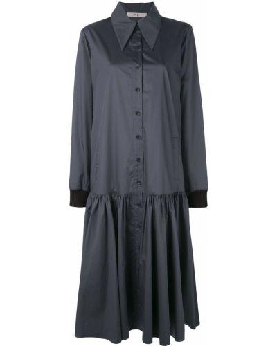 Платье на пуговицах из поплина Tibi