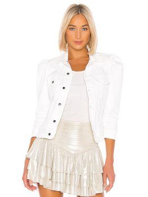 Biała kurtka bawełniana na koturnie Retrofete