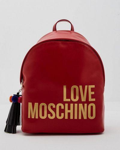 Красный рюкзак Love Moschino