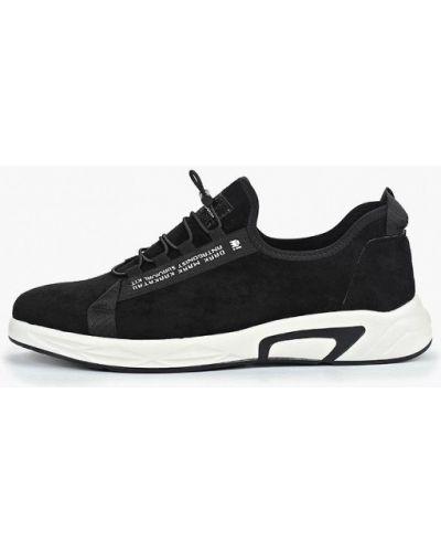 Кроссовки черные замшевые Paolo Conte