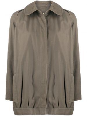 Прямое длинное пальто с воротником с рукавом реглан Giorgio Armani Pre-owned