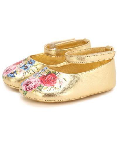 Пинетки кожаные Dolce & Gabbana