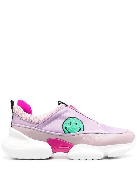 Różowe sneakersy skorzane Joshua Sanders