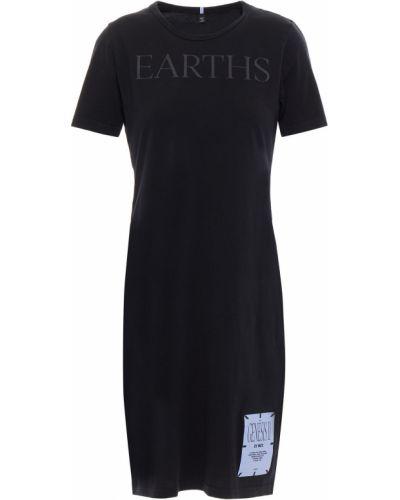 Трикотажное черное платье мини с заплатками Mcq Alexander Mcqueen