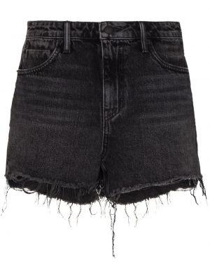 Джинсовые шорты короткие - черные Alexander Wang