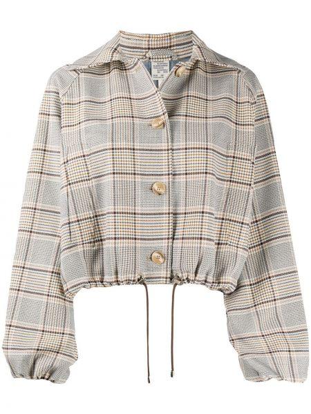 Куртка в клетку с воротником на пуговицах Baum Und Pferdgarten