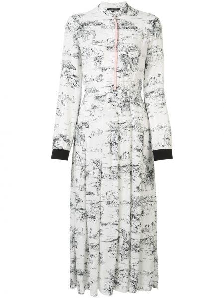 Платье миди облегающее со складками Markus Lupfer
