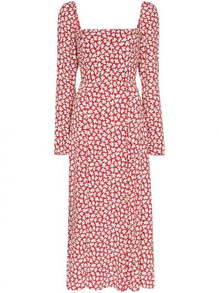 Летнее платье миди с цветочным принтом Reformation